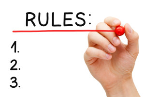 Rules Red Marker